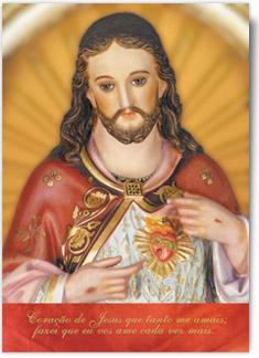 Estampa do Sagrado Coração de Jesus