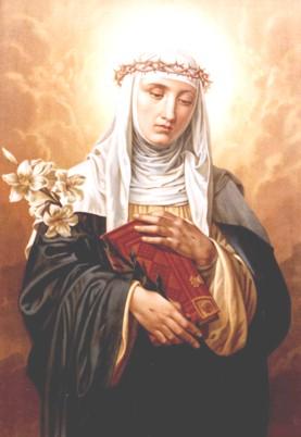 Santa Catarina de Sena, rogai por nós! vestido celestial
