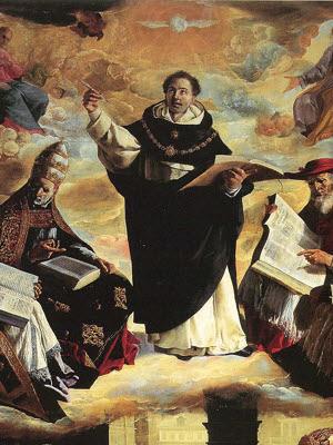 São Tomás de Aquino sendo iluminado pelo Espírito Santo
