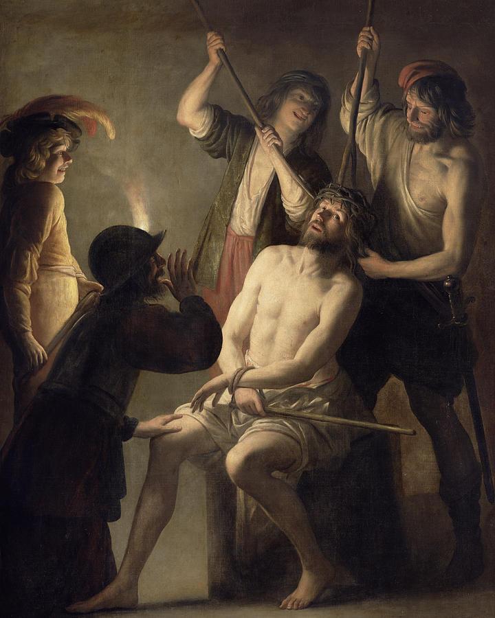 Jesus é coroado de espinhos