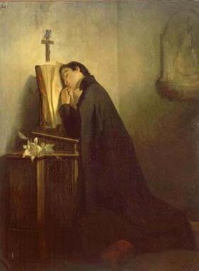 São Luiz Gonzaga em oração; os Santos sabem: a Oração é a prática mais fundamental e essencial de todo cristão.