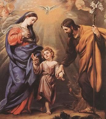 A Sagrada Família é a mais augusta imagem da Santíssima Trindade.