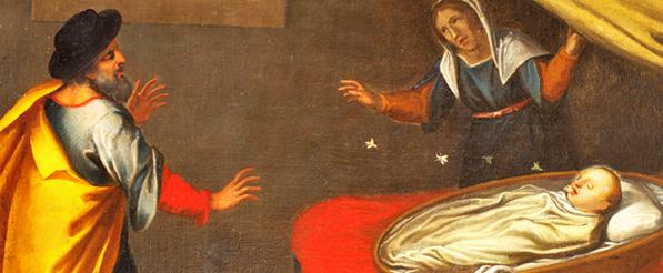 Esta pintura representa o Milagre das Abelhas de Santa Rita, quando ainda era um bebê. As abelhas a rodeavam e entravam em sua boca sem feri-la.