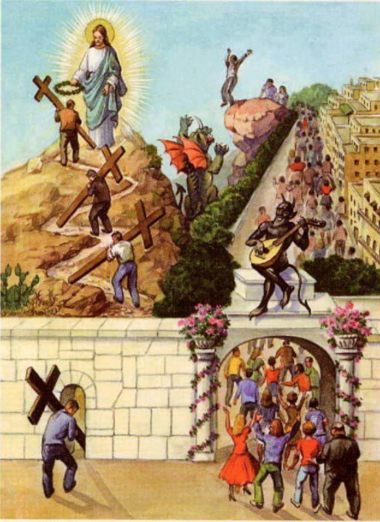 O caminho para o Paraíso é estreito e tortuoso, mas leva à Felicidade Eterna. Visão de Santa Faustina