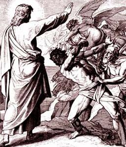 Nosso Senhor livra o pobre homem da ação do demônio!