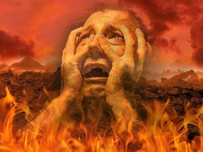 Alma agonizando no inferno