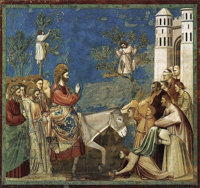 Entrada de Nosso Senhor Jesus Cristo em Jerusalém. Início da Semana Santa com o Domingo de Ramos.