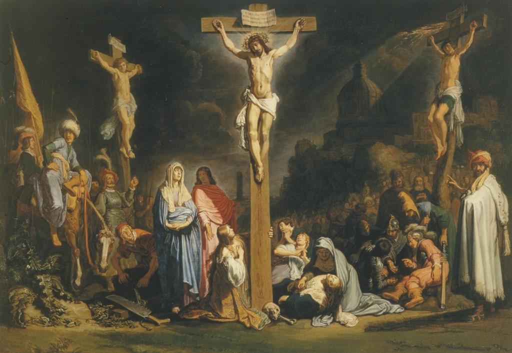 Nosso Senhor Jesus Cristo sendo Crucificado.