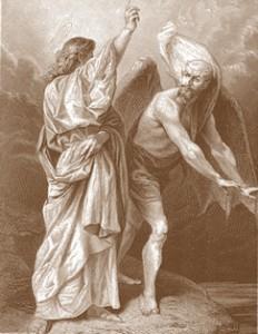 Nosso Senhor sendo tentado pelo demônio quando estava no deserto!