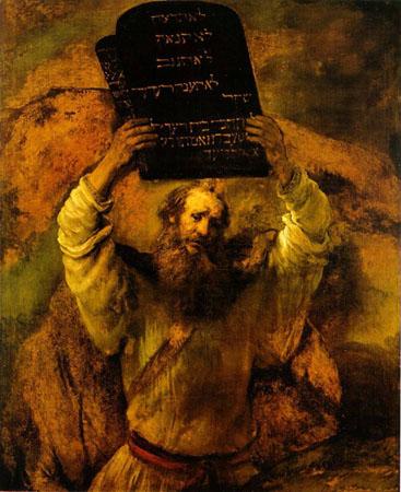 Moisés e as tábuas da Lei.