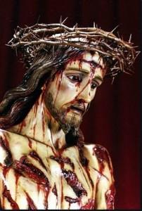 Nosso Senhor após ser flagelado!