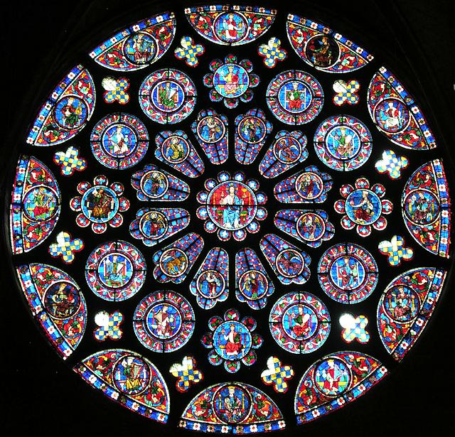 Vitral da Catedral de Chartres. França.
