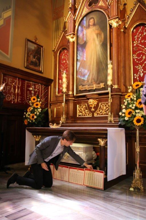 Relíquias de Santa Faustina, no Santuário da Divina Misericórdia