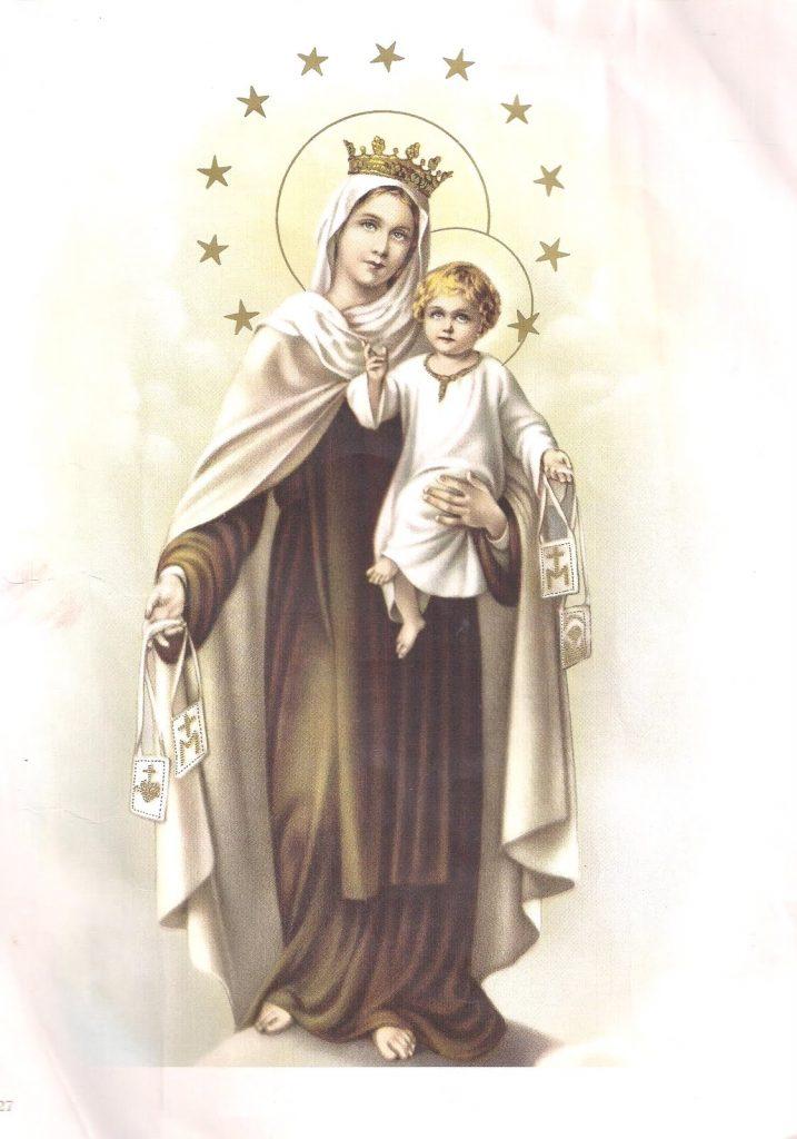 Clique aqui para fazer o download da Oração de Nossa Senhora do Carmo.