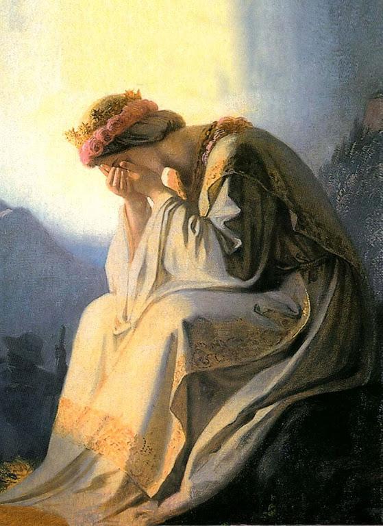 O choro de Nossa Senhora de La Salette.