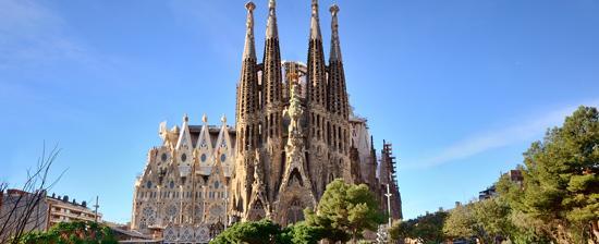 Basílica Sagrada Família em Barcelona.