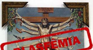 """""""Arte"""" em exposição do Santander Cultural, referencia deus Indu à Nosso Senhor."""