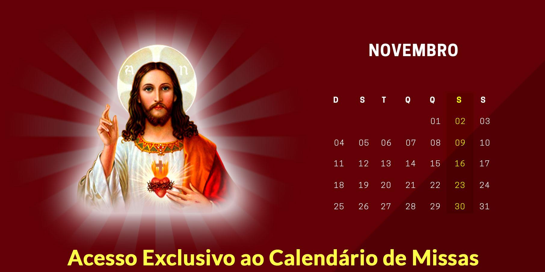 calendario de missas