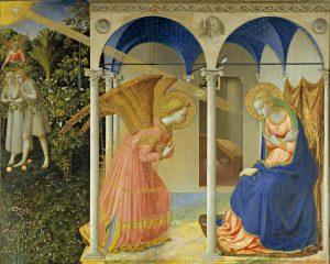 Anunciação do Verbo Divino. Giovanni da Fiesole, Fra Angélico - 1435.