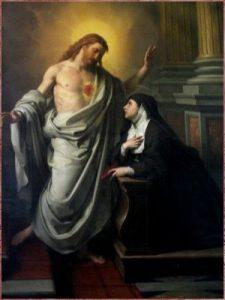 Santa Margarida Maria Alacoque e Coração de Jesus