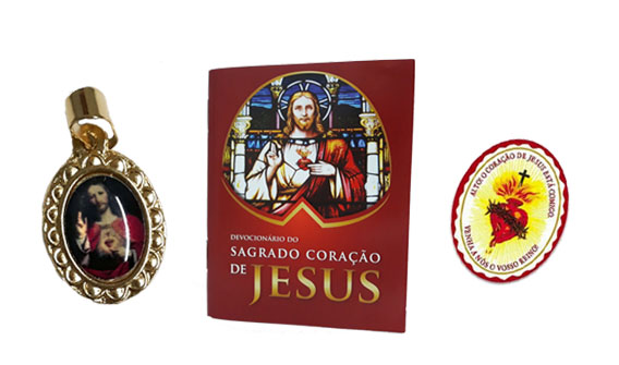 Medalha, Devocionário e Escudo - Sagrado Coração de Jesus