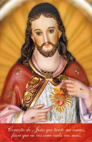Estampa Sagrado Coração de Jesus - Campanha