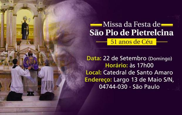 Missa São Pio de Pietrelcina - Imagem Destacada