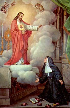 Sagrado Coração de Jesus e Santa Margarida Maria Alacoque