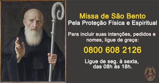 Missa São Bento Proteção Física e Espiritual