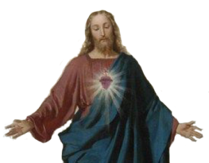 Imagem do Sagrado Coração de Jesus no texto sobre Como ser um bom católico