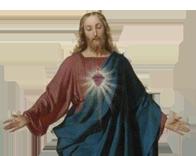 Imagem do Sagrado Coração de Jesus no conteúdo sobre os benefícios da confissão