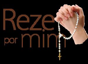 Reze por Mim - Duas mãos com um terço rezando