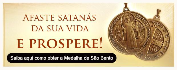 Botão Famílias Blindadas por São Bento no texto Oração para pedir proteção contra o Demônio - Baixe Aqui!