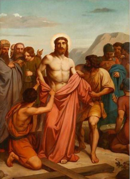 Via Sacra: 10ª Estação – Jesus é despojado de suas vestes