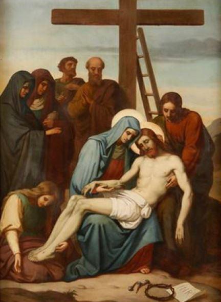 Via Sacra: 13ª Estação – Jesus é descido da cruz e depositado nos braços de sua Mãe