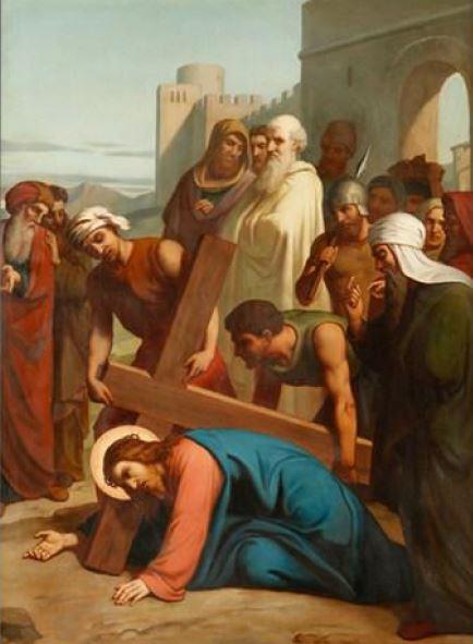 Via Sacra: 7ª Estação – Jesus cai pela segunda vez