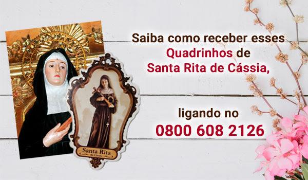 Estampa e Quadrinho de Santa Rita de Cássia