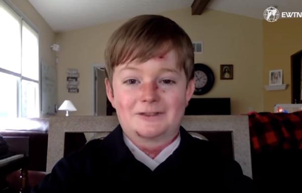 Carson Kissell - Créditos EWTN News Nightly (Reprodução) no texto Divina Misericórdia: A Fé deste menino irá tocar o seu coração!