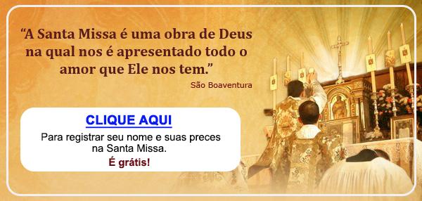 Botão do Livro de Missas no texto MISSA DA SEMANA: São Bento pela proteção das famílias e defesa contra todos os males